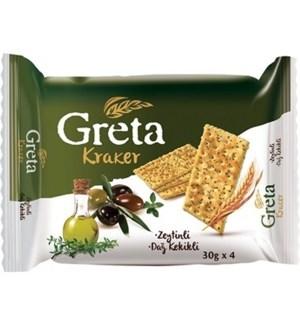 GRETA OLIVES & OREGANO CRACKERS 120Gx8