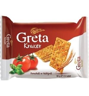 GRETA TOMATO & BASIL CACKERS 120Gx8x3