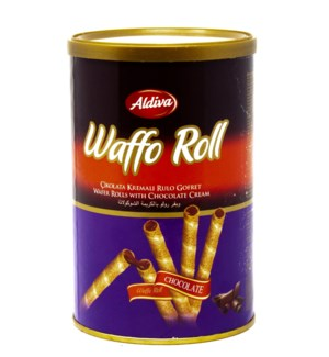 WAFER ROLLS W/ CHOCOCOLATE  250GRx12