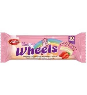 UNICORN WHEELS STRAWBERRY COATED W/ MARSHMALLOW & GRANOLA 220GRX15