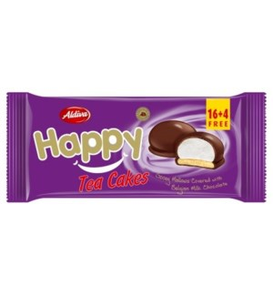 HAPPY CHOC COATED CARAMEL BISCUIT W/ MARSHMALLOW (12GRx20)x20