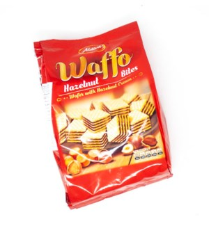ALDIVA WAFFO BITES WAFER WITH HAZELNUT CREAM 250GX12