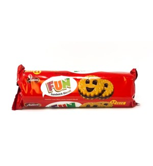 ALDIVA FUN COOKIES SANDWICH BISCUIT W HAZELNUT CREAM 216GRX12
