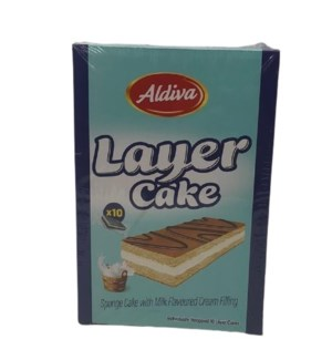 ALDIVA LAYER CAKE WITH MILK CREAM 25GR*10(250GR)X12