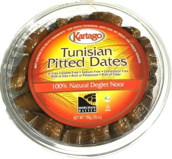 DEGLET PITTED DATES (795G) 28OZx12