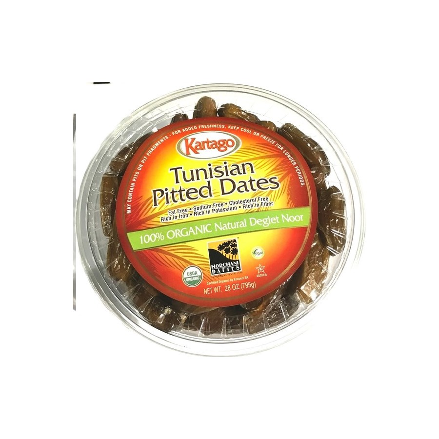 ORGANIC PITTED DATES (793G) 28OZx12