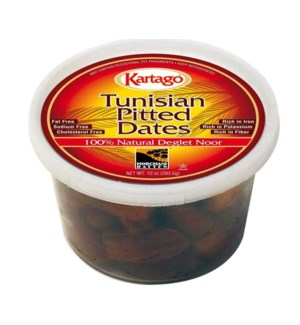 DEGLET PITTED DATES (283G) 10OZx12