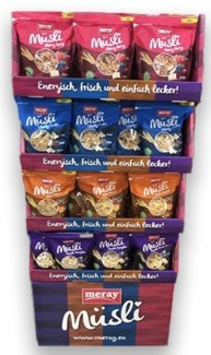 MUESLI-OATMEAL ASSORTED 350GRX72 SHIPPER