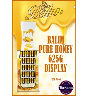 BALIM PURE HONEY 625G DISPLAY -270 PCS