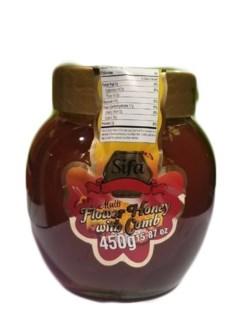 BLOSSOM HONEY JAR W/COMB 450GRx12