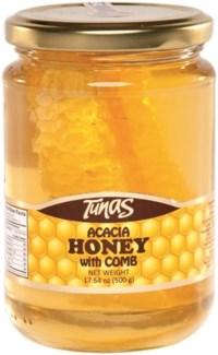 HONEY W/COMB JAR 500GRx12