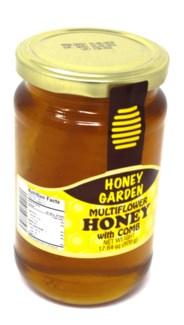 MULTIFLOWER HONEY W/COMB JAR 500GRx12