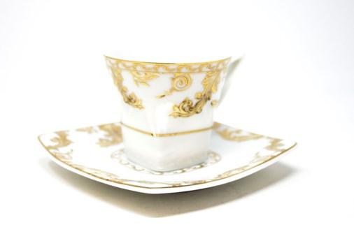 PORCELAIN COFFEE SET (62305 M-100 BLACK OG -3922) 6PCX1