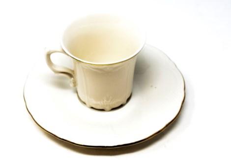 PORCELAIN COFFEE SET (BRN-12 GOLD KREM BONE) 6PCX1