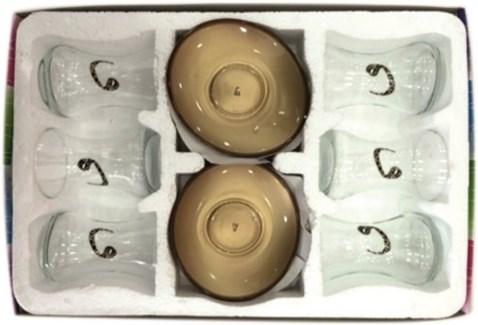 EMIR VAV GLASS  TEA SET 12PCSX1