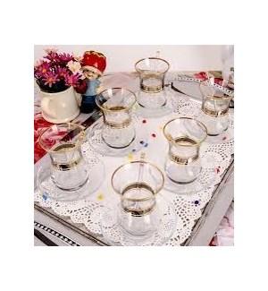 DMT 303 BEL YALDIZ TEA GLASS 6PCSX8