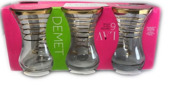DMT 303 SULTANI YALDIZ TEA GLASS 6PCSX8