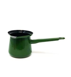 #7 ENAMEL COFFEE POT/GREEN 1PC