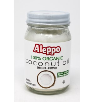 ORGANIC COCONUT OIL EXTRA VIRGIN 14OZx12