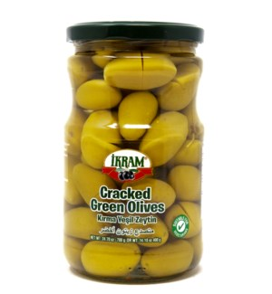 GREEN OLIVES CRACKED 720GRX12 JAR(S.PROMO)