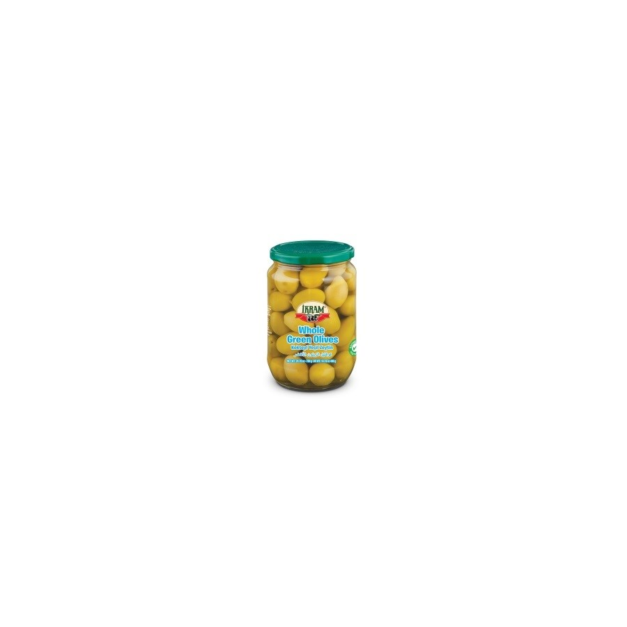 WHOLE GREEN OLIVES 720GRX12 JAR(S.PROMO)