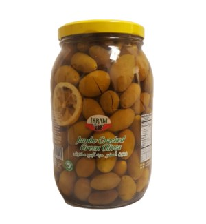 GREEN QUEEN CRACKED OLIVES 2000GRx6 JAR