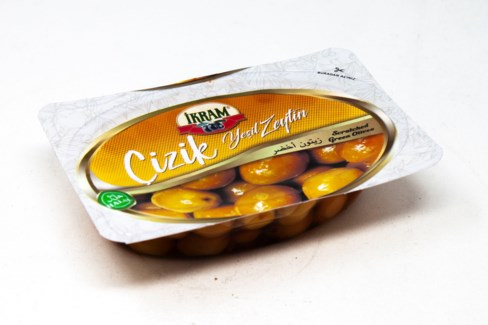GREEN SCRACTHED OLIVES 200GR x24