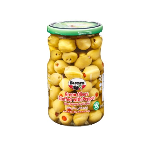 GREEN OLIVES PEPPER 400GRx12