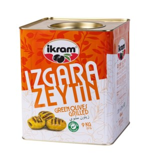 GRILLED PITTED GREEN OLIVES 9KGx1(S.PROMO)