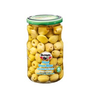 GREEN OLIVES SEEDLESS 350GRx12
