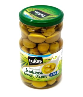 BODRUM SCRATCHED GREEN OLIVES (5XL) 720Gx12(R.PROMO)