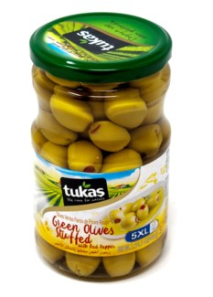 GREEN OLIVES  STUFFED WITH PEPPER (5XL) 720Gx12(R.PROMO)