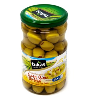 GREEN OLIVES  STUFFED WITH PEPPER (5XL) 720Gx12