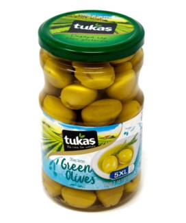 JUMBO COCTAIL GREEN OLIVES (5XL) 720Gx12(R.PROMO)