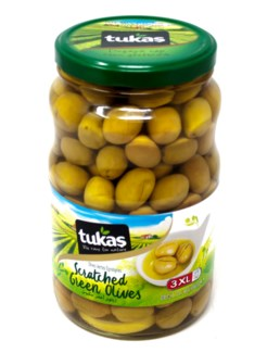 BODRUM SCRATCHED GREEN OLIVES 1700Gx6