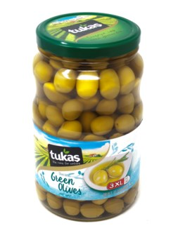 JUMBO COCTAIL GREEN OLIVES  1700Gx6