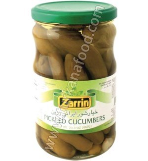 BABY CUCUMBER PICKLES JAR 660GRx12
