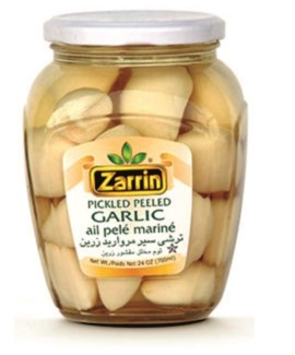 PEELED GARLIC PICKLES JAR 700GRx12
