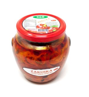 ZAKUSKA-VEGETABLES SPREAD MILD 580GRx9