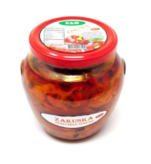 ZAKUSKA-VEGETABLES SPREAD HOT 580GRx9