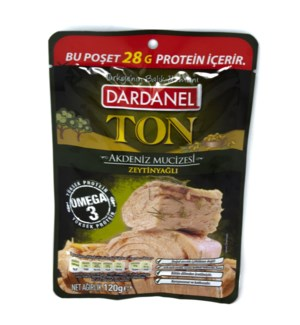 TUNA IN OLIVE OIL IN POUCH 120GRx12