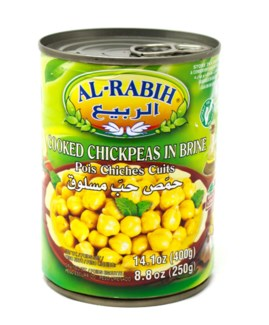 COOKED CHICK PEAS IN BRINE TIN 400GRX24