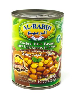 FAVA AND CHICK PEAS IN BRINE TIN 400GRX24