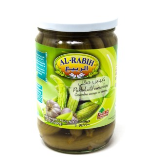 PICKLED WILD CUCUMBERS(WHOLE)BRINE GLASS JAR 600GRX12