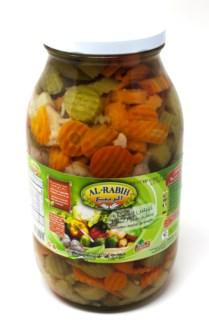 MIXED VEGETABLES(SLICE) PICKLES IN BRINE GLASS JAR 2800GRX4