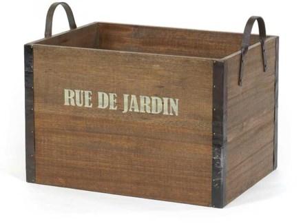 Provence Rue De Jardin Wooden Crate