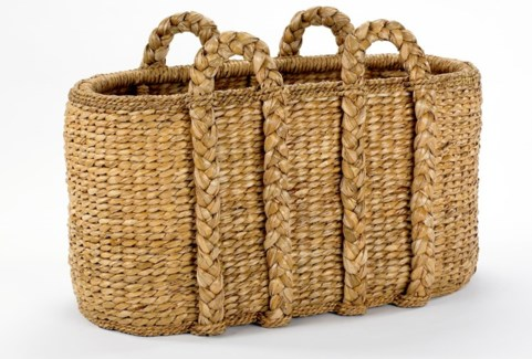Large Oval Log Rush Basket
