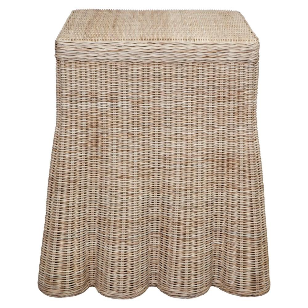 Scallop Square Side Table