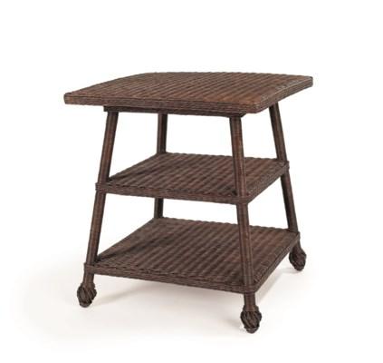 Wicker End Table