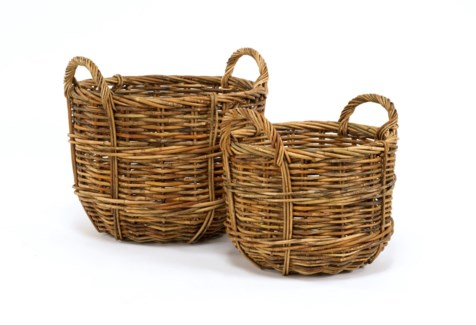 Cottage Set/2 Bushel Baskets